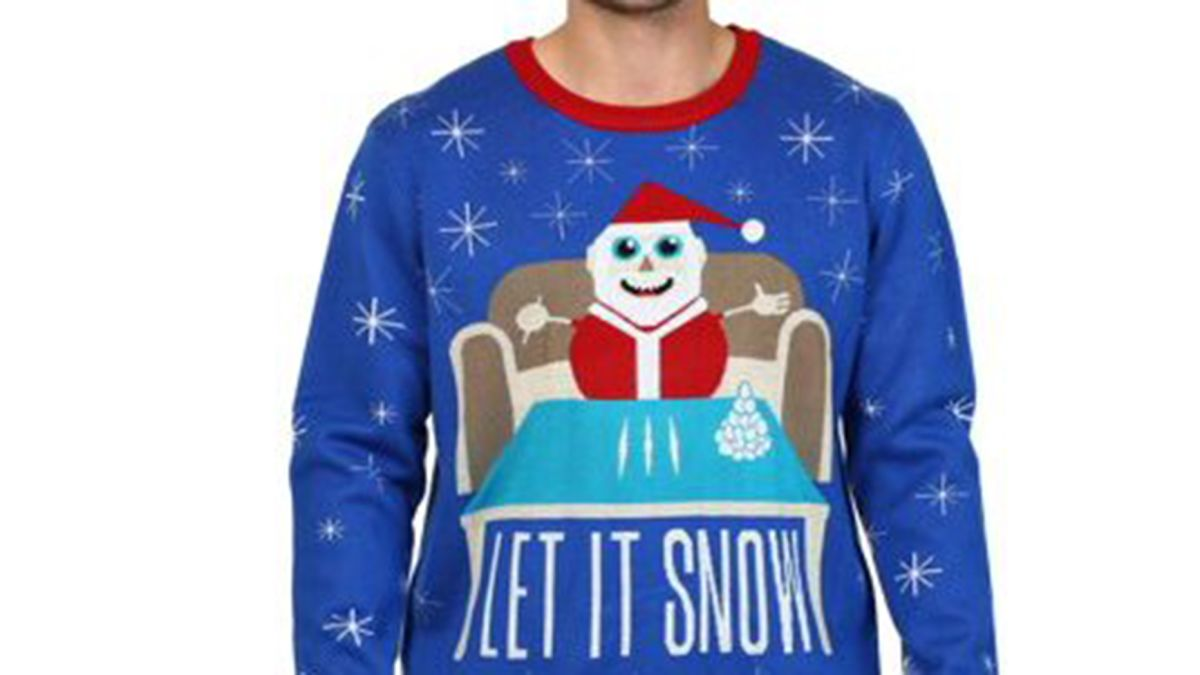 Christmas sweater with Santa and cocaine forces Walmart to