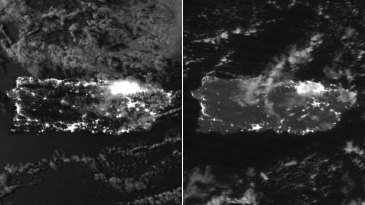Puerto Rico Power Outages Satellite Images Show How Dark The