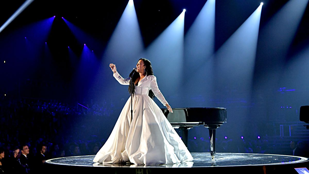 demi lovato debuts anyone in teary grammy performance cnn a look back at demi lovato s career