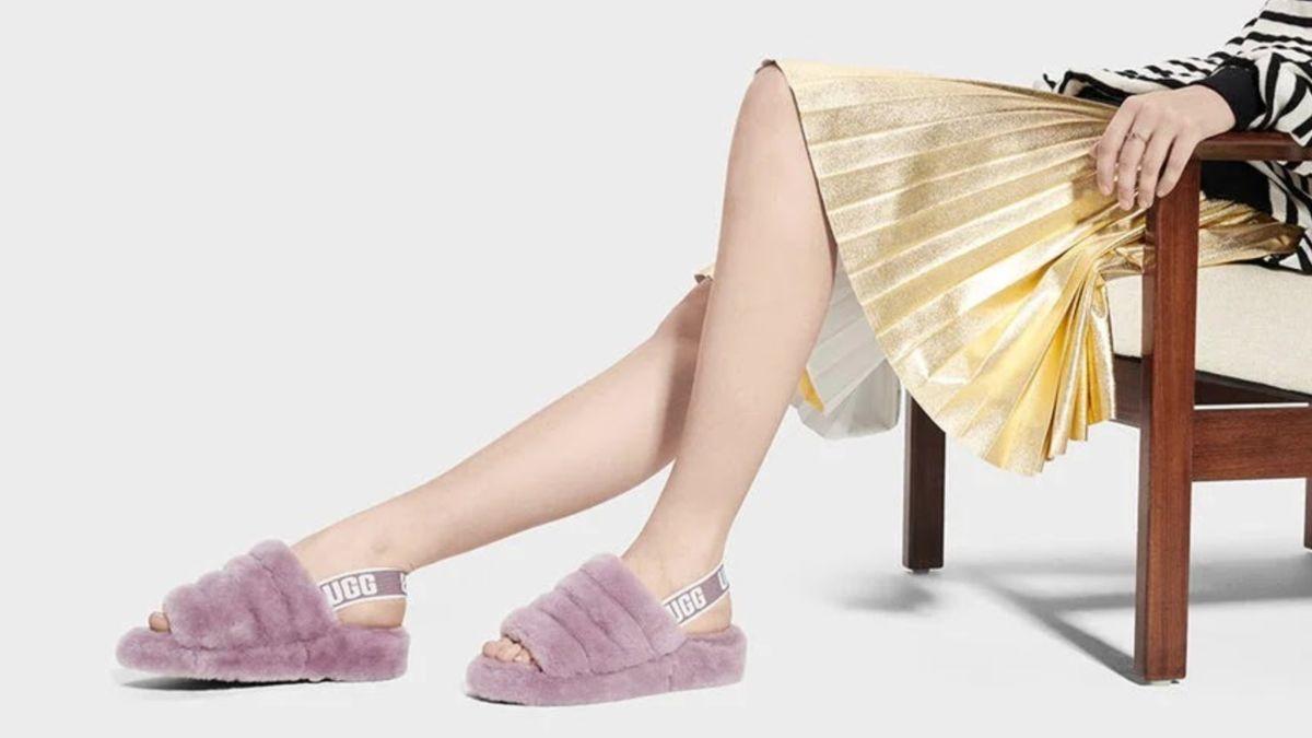 Ugg Fluff Yeah Slide-inspired sandals