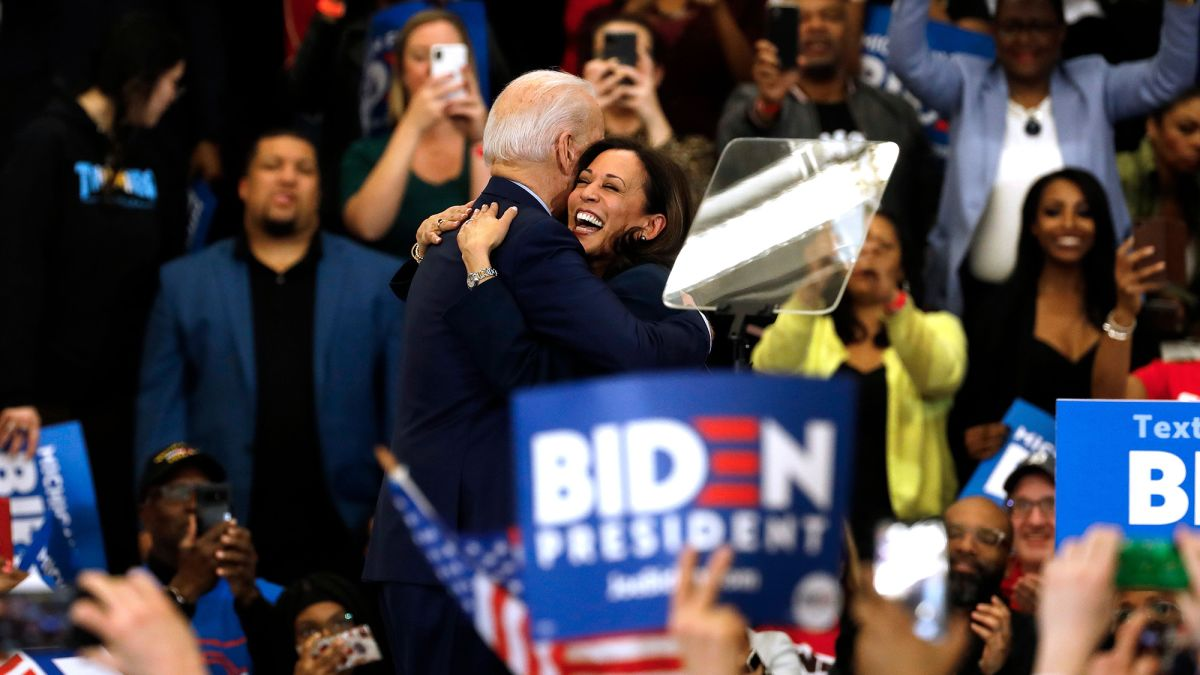 The once tense relationship between Joe Biden and Kamala Harris ...