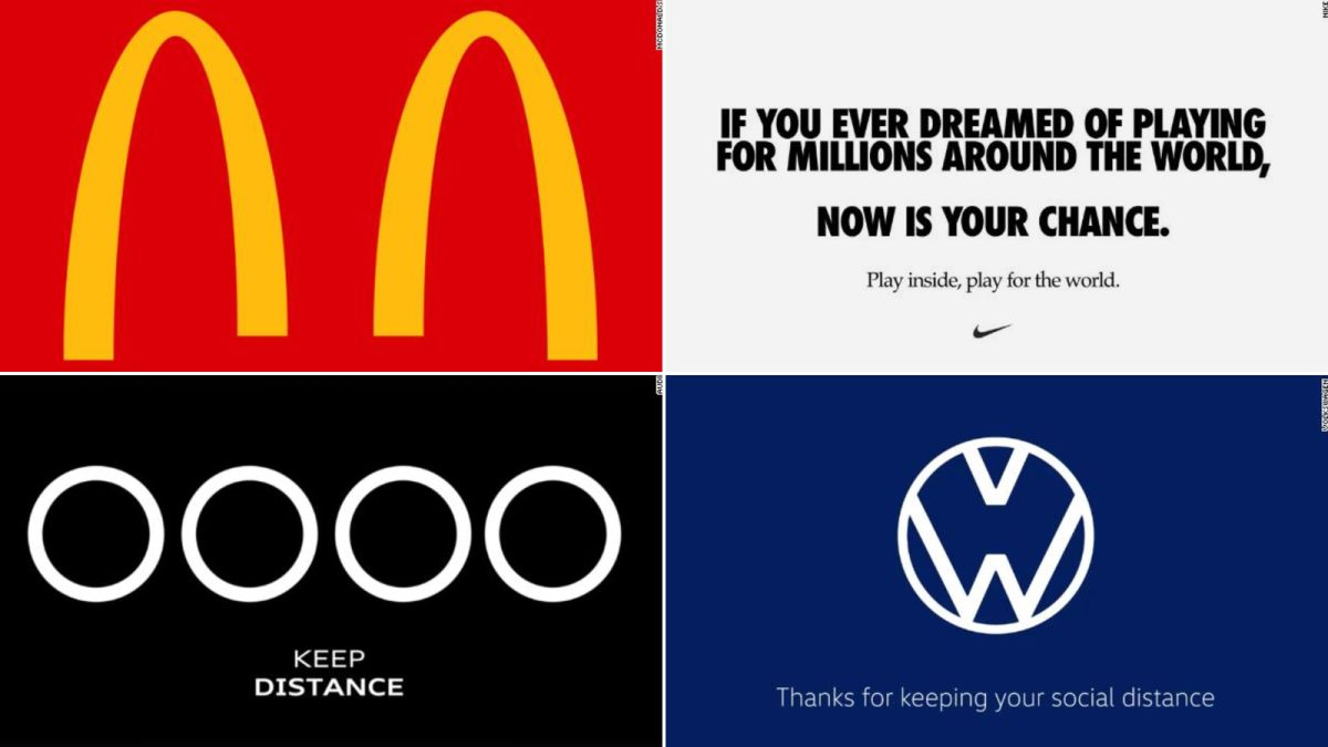 Mcdonald S And Other Brands Are Making Social Distancing Logos Cnn
