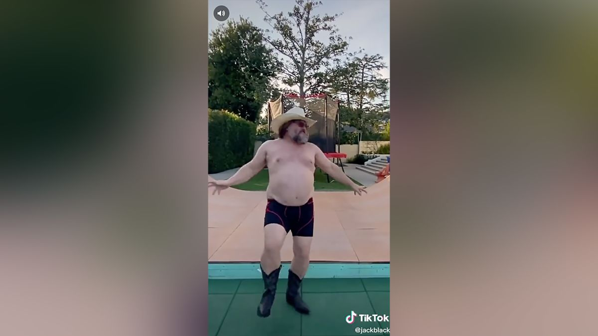 Jack Black S Shirtless Quarantine Dance Takes Tiktok By Storm Cnn