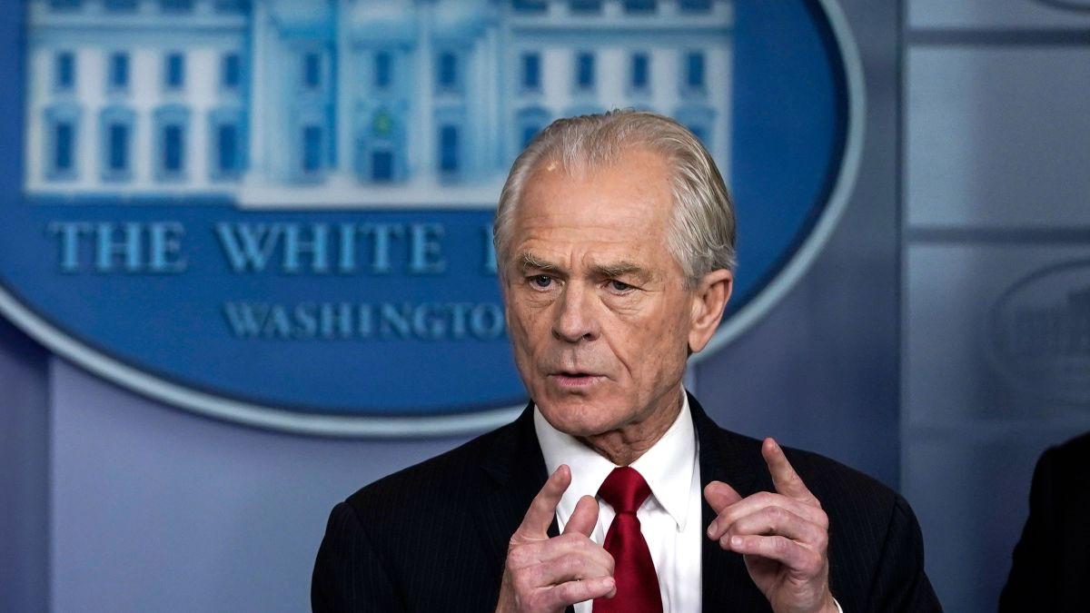 man speaking in white house briefing room