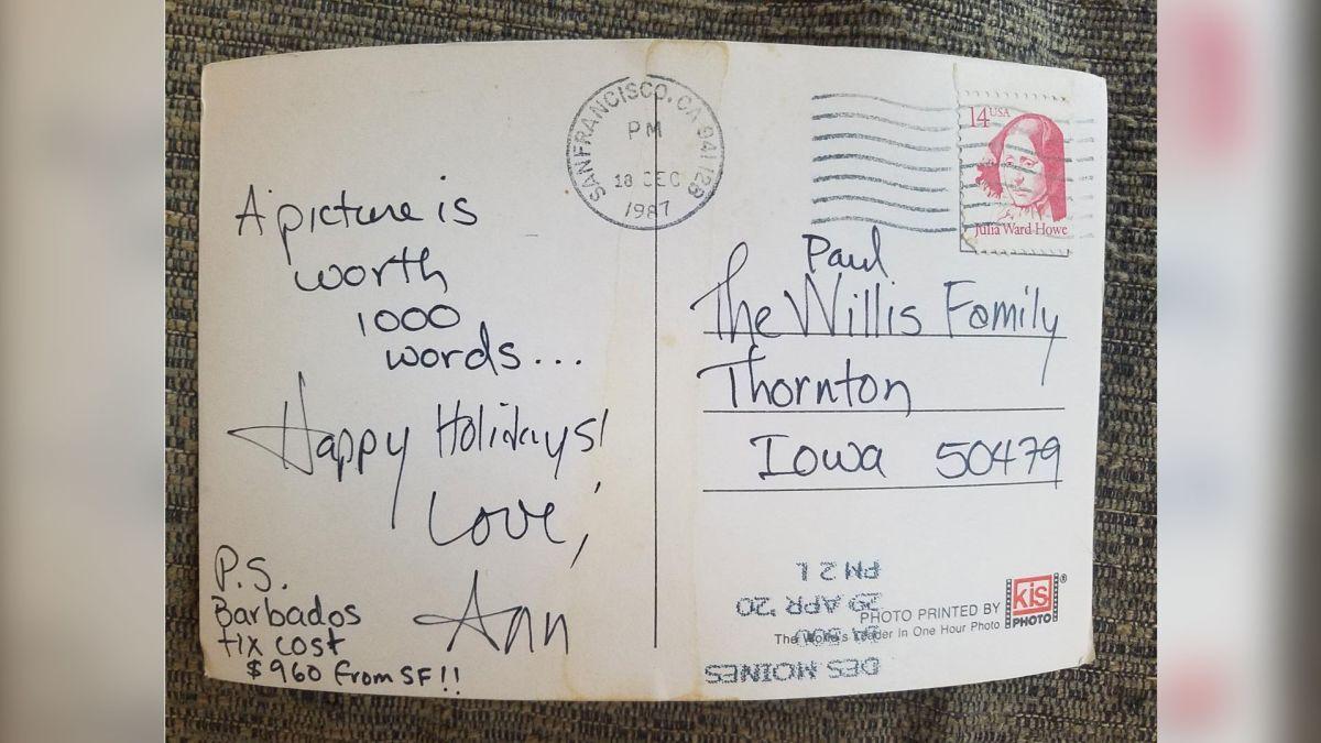 Towel Postcard