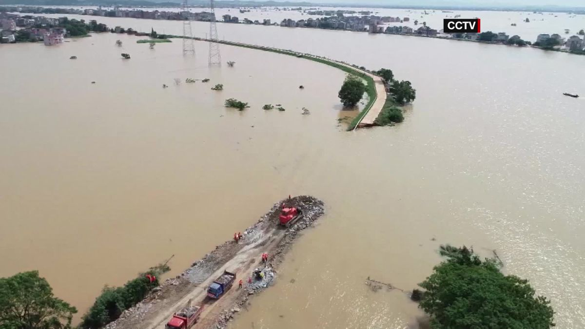 Parts of China wrecked by raging flood waters - CNN Video
