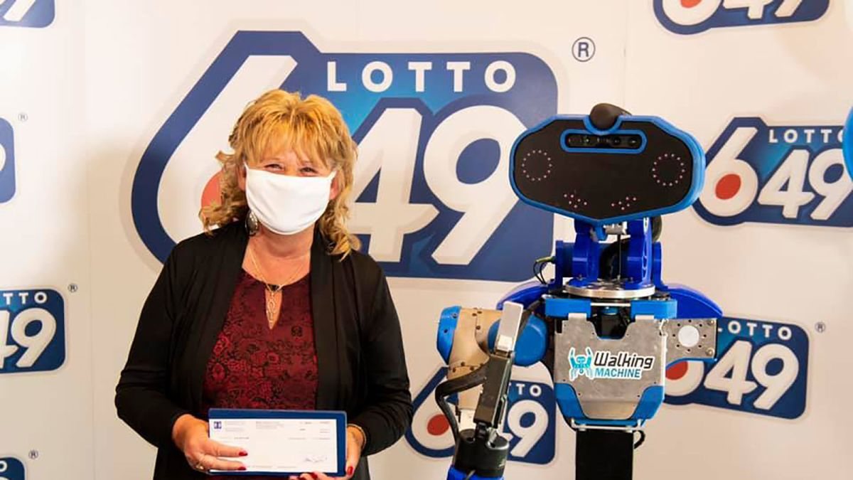 A lottery prize winner got her check from a robot. Because ...