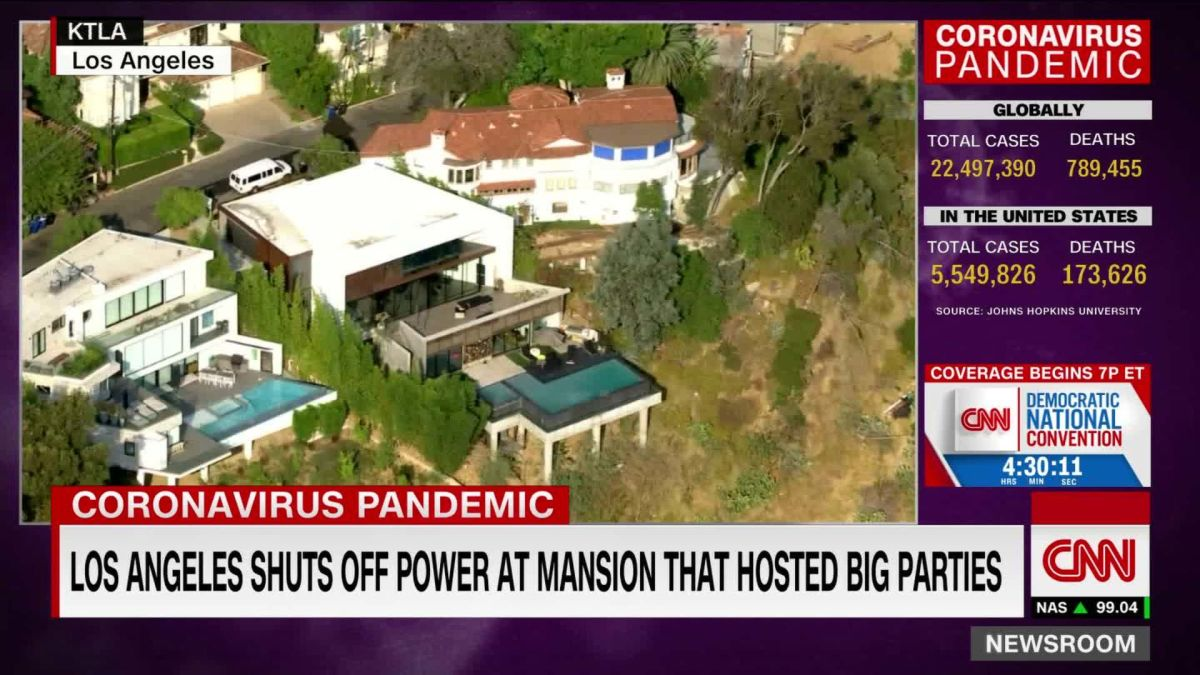 Los Angeles mayor shuts off utilities at Hollywood Hills 'party house' -  CNN Video