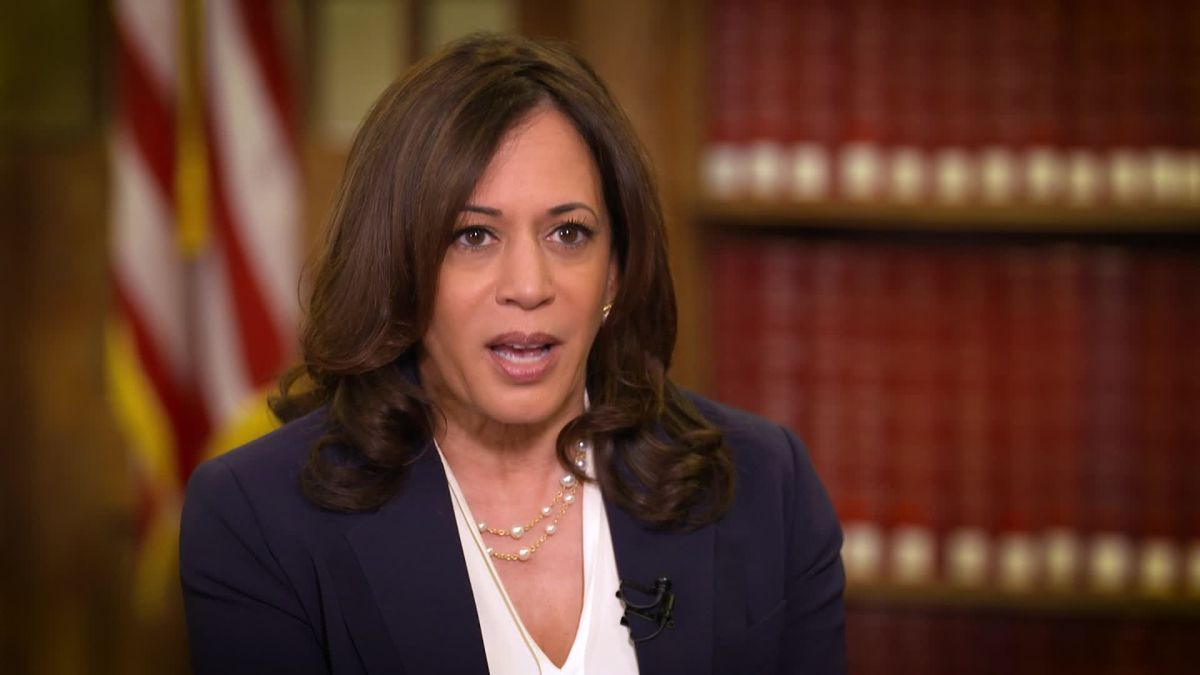 Sen Kamala Harris There S Very Little We Can Trust That Comes Out Of Trump S Mouth Cnn Video