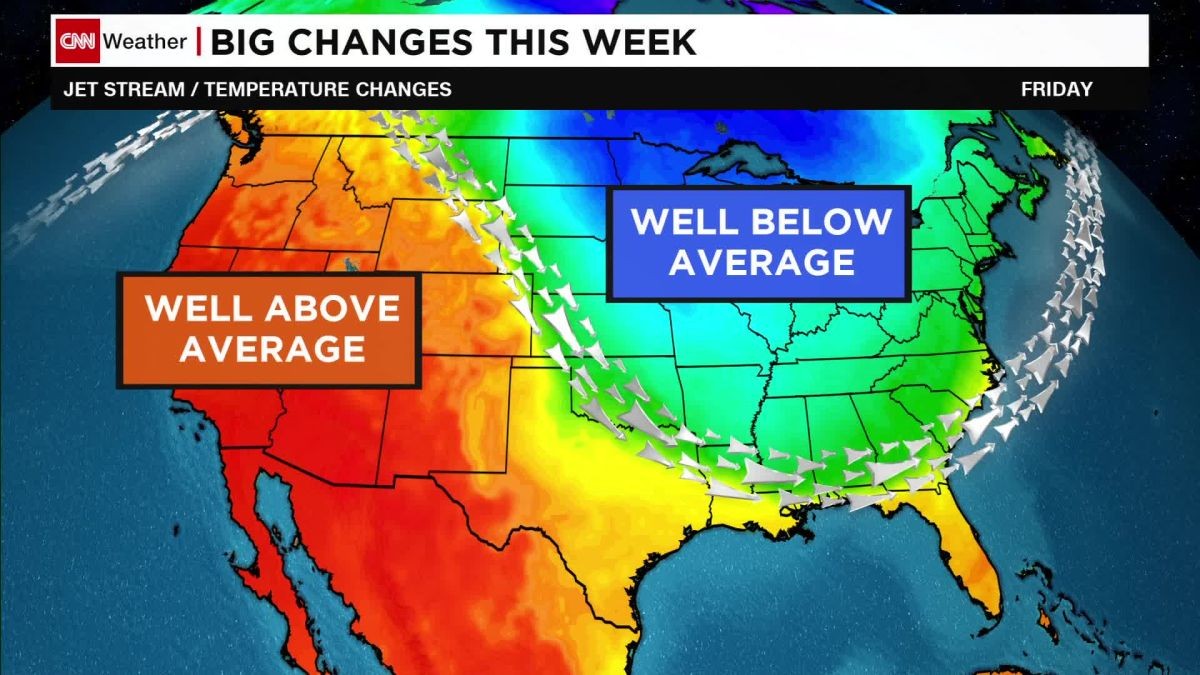 Us Weather Map For The Week US temperature drop forecast for this week   CNN