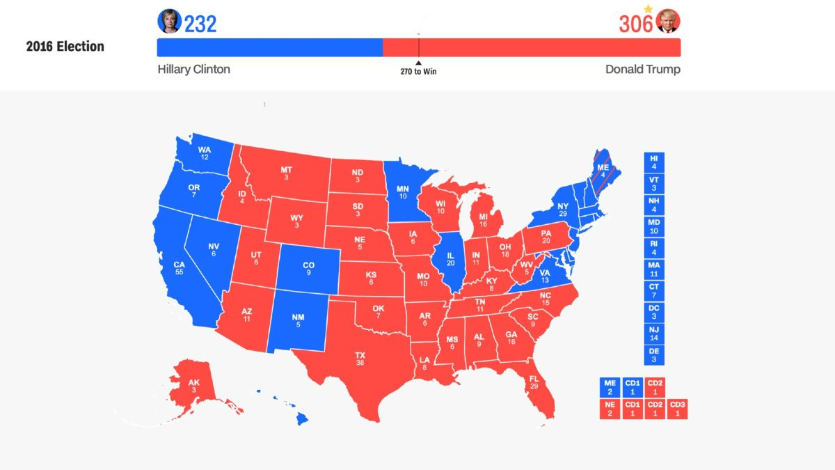 Map Of Us Electoral Votes 2016 US election: The nine states to watch   CNN