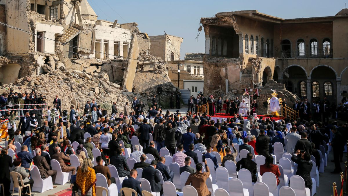 Pope Francis declares hope 'more powerful than hatred' during visit to Iraq  - CNN