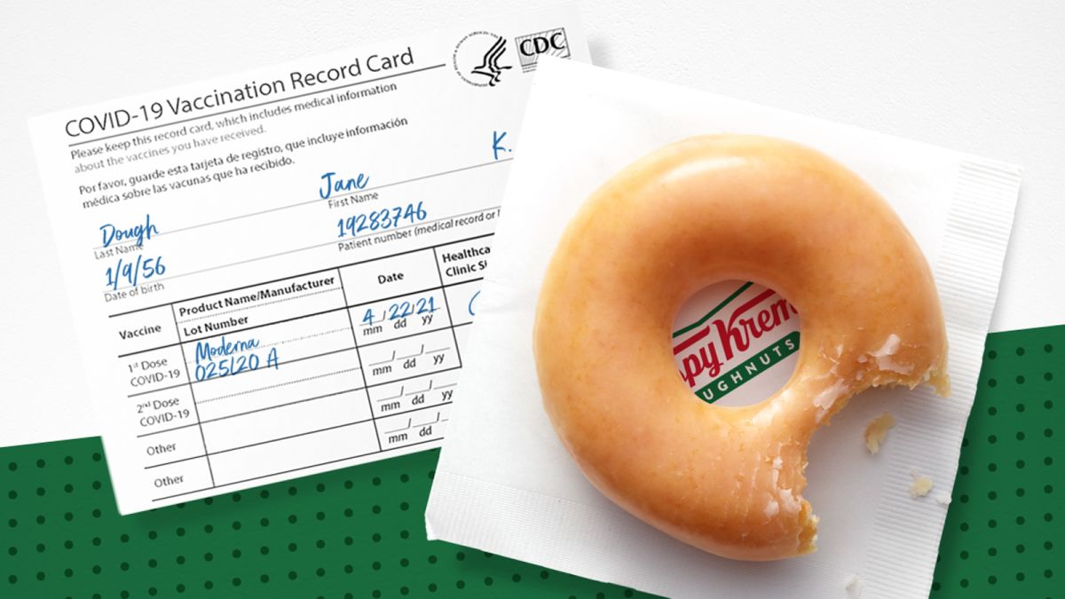 Krispy Kreme is making vaccinations extra sweet with a free doughnut a day  for the rest of the year - CNN