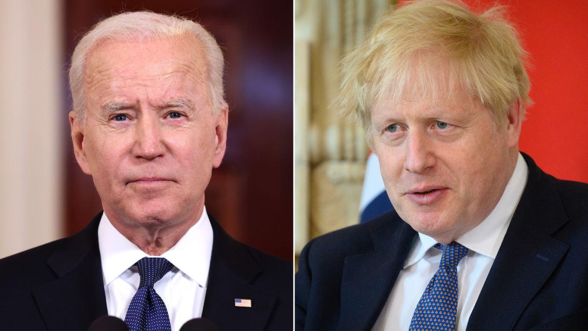 Biden meets Britain's Johnson, to warn over N.Irish peace