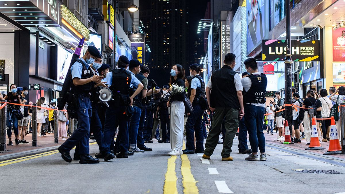 Five arrested in Hong Kong over