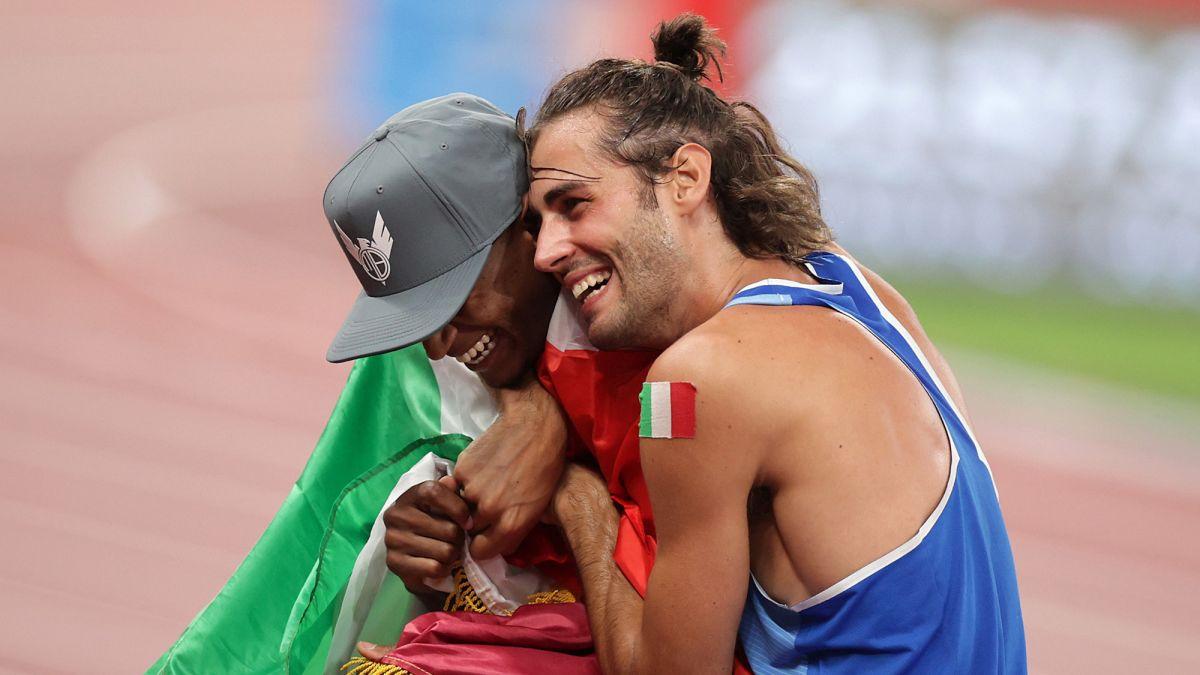 Gianmarco Tamberi and Mutaz Essa Barshim share Olympic gold in emotional  high jump final - CNN