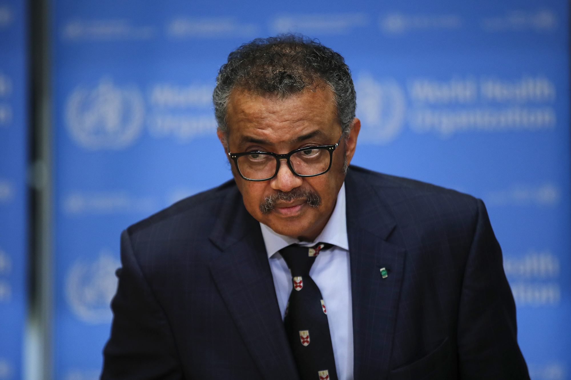 Tedros Adhanom Ghebreyesus, director general of the World Health Organization (WHO), speaks at a news conference on Tuesday, February 18.