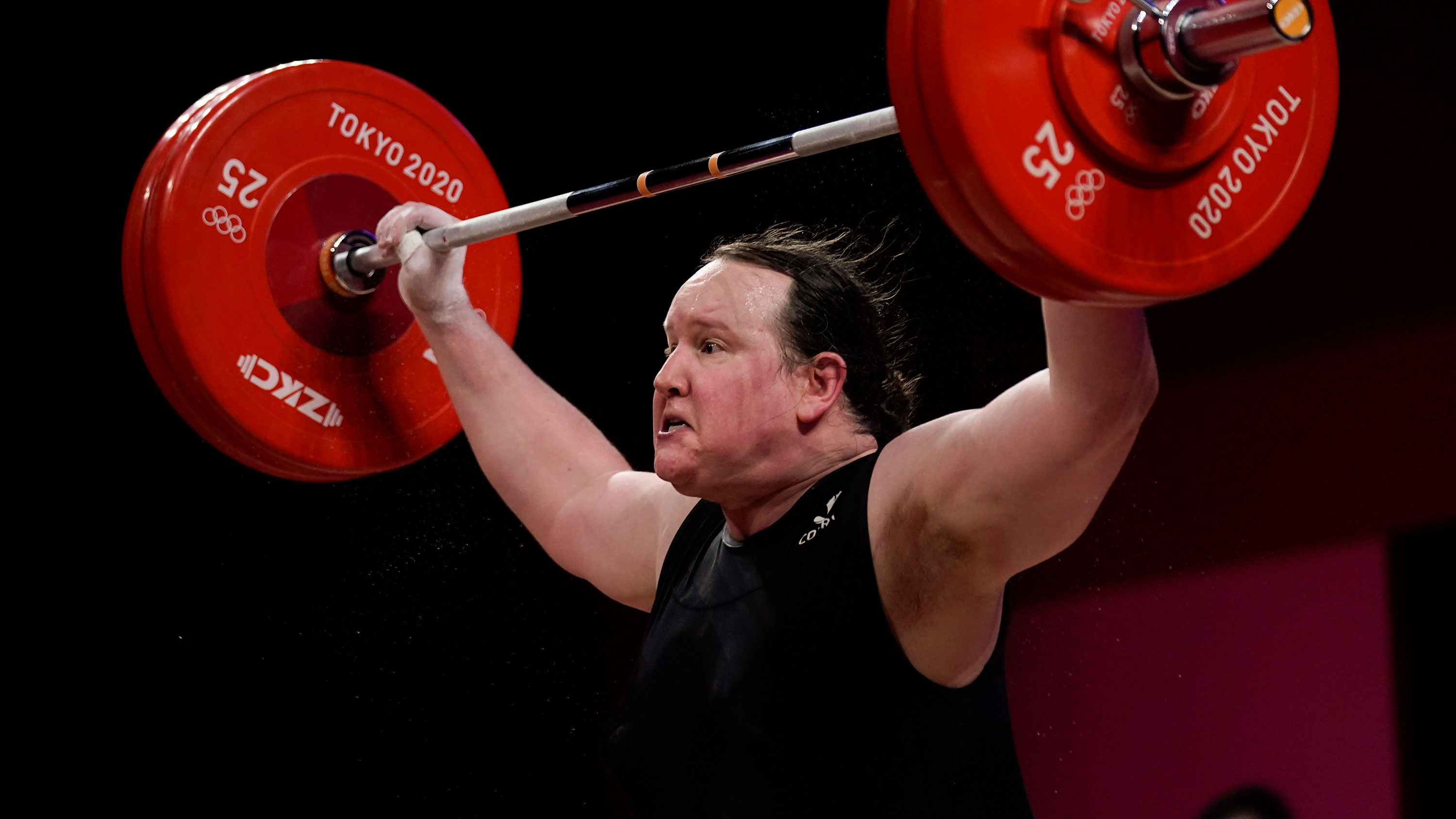 New Zealand's Laurel Hubbard competes in weightlifting on August 2. Sheis the first openly transgender woman to competein the 125-year history of the Olympics.