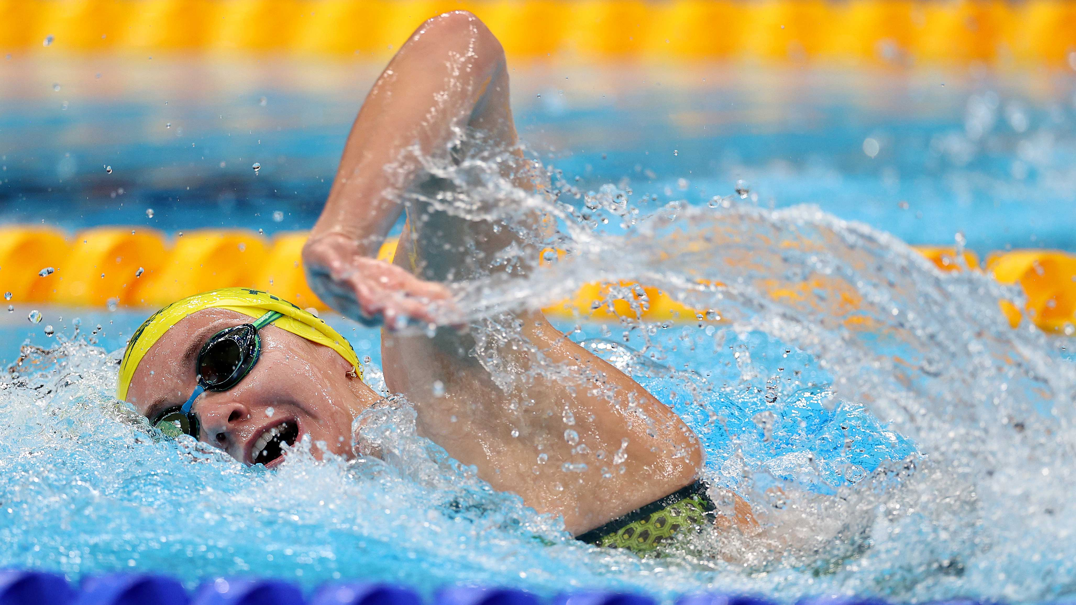 Australia's Ariarne Titmus competes in the 400m freestyle final on July 26.