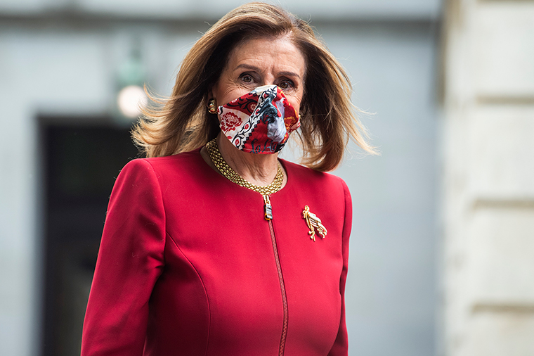 Nancy Pelosi leaves the Russell Building on Monday, September 28.