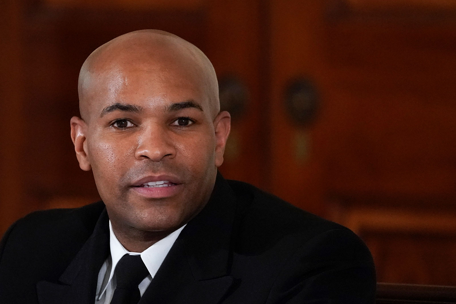 US Surgeon General Dr. Jerome Adams attends an event in the East Room of the White House on Thursday, September 3.