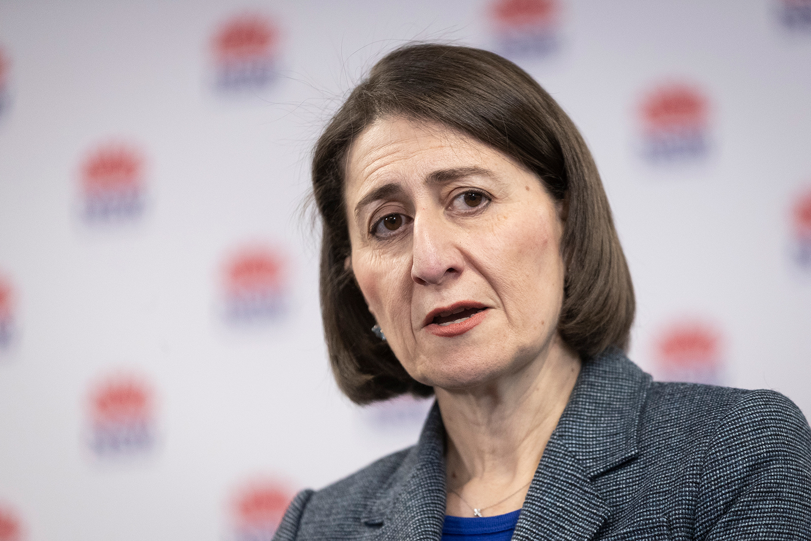 New South Wales Premier Gladys Berejiklian speaks at a news conference in Sydney, Australia, on August 17.