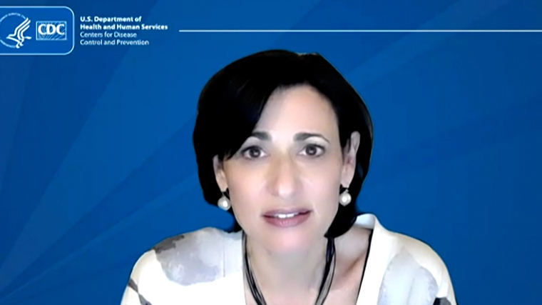Dr. Rochelle Walensky, director of the US Centers for Disease Control and Prevention