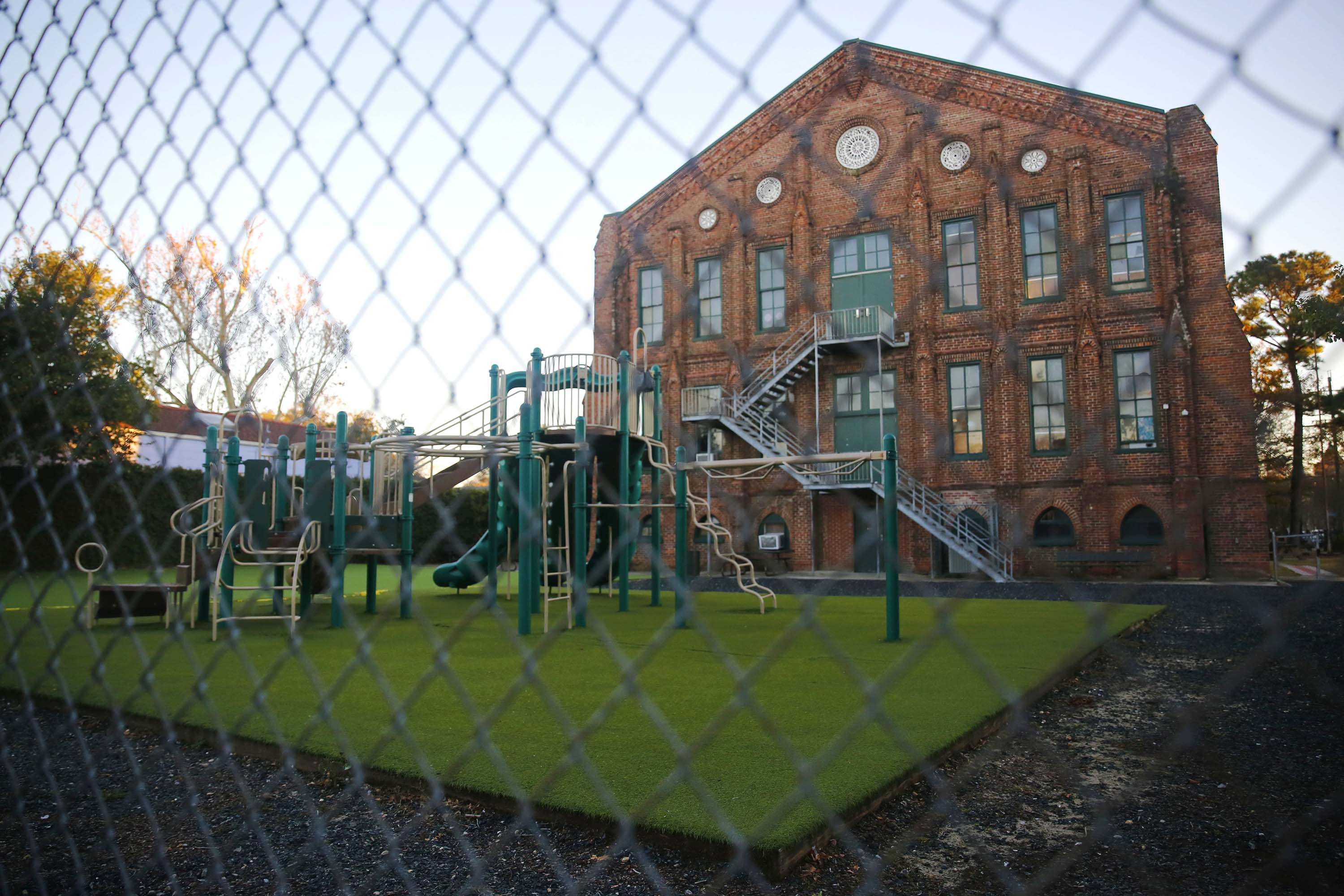A closed public school is pictured in New Orleans, Louisiana, on January 5.