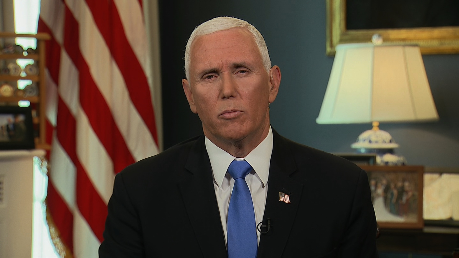 "Vice President Mike Pence on CNN's ""New Day"" on August 21."