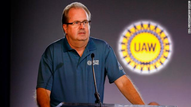 United Auto Workers President Gary Jones speaking at the opening of GM-UAW contract talks on July 16 in Detroit.