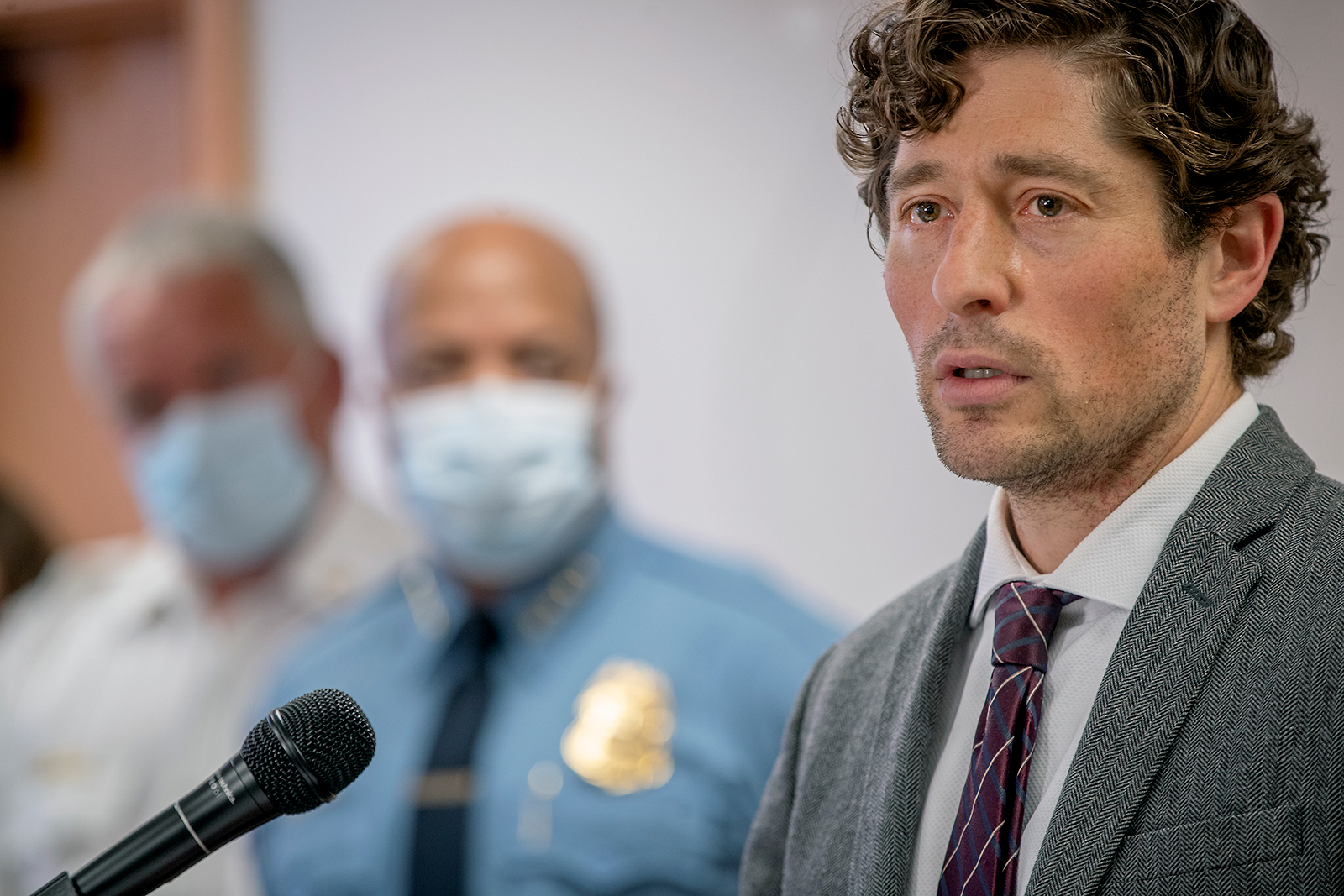 Minneapolis Mayor Jacob Frey speaks during a news conference on Thursday, May 28, in Minneapolis.