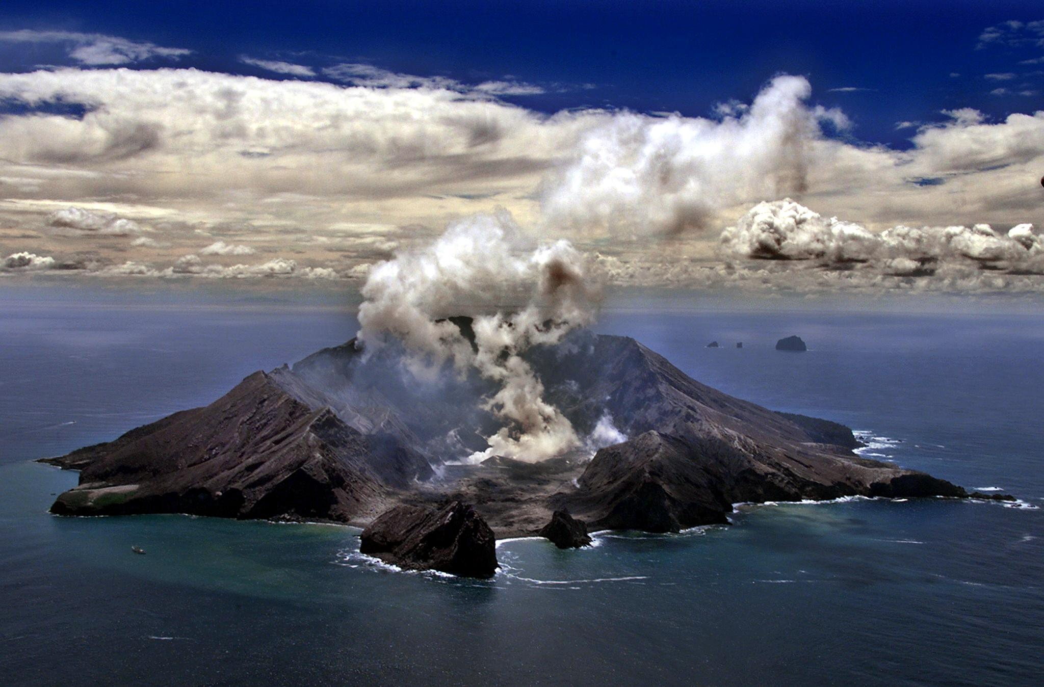 The volcano on White Island pictured in 1999.