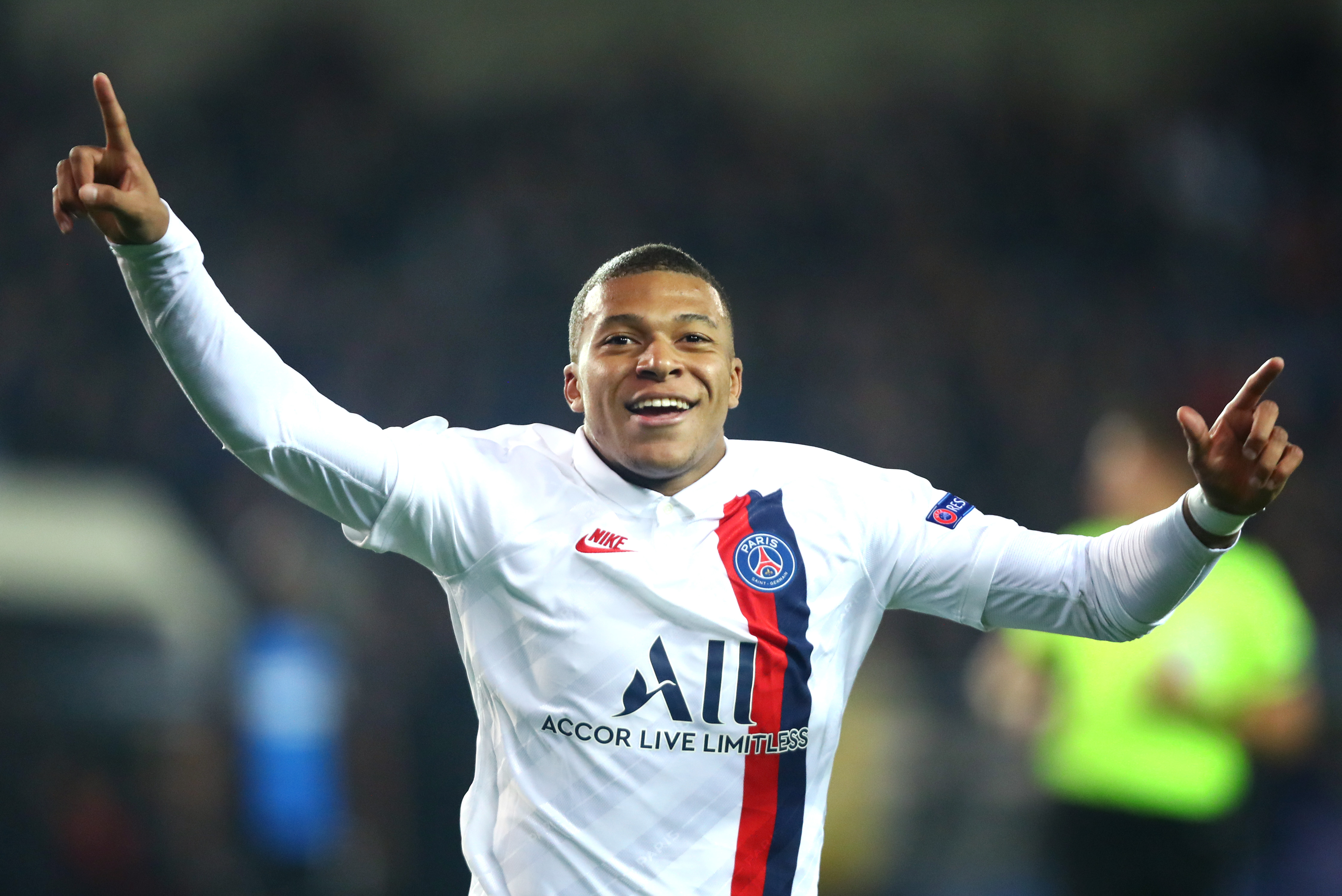 Kylian Mbappe scored three goals in 22 minutes as PSG thrashed Club Brugge 5-0 in Belgium.
