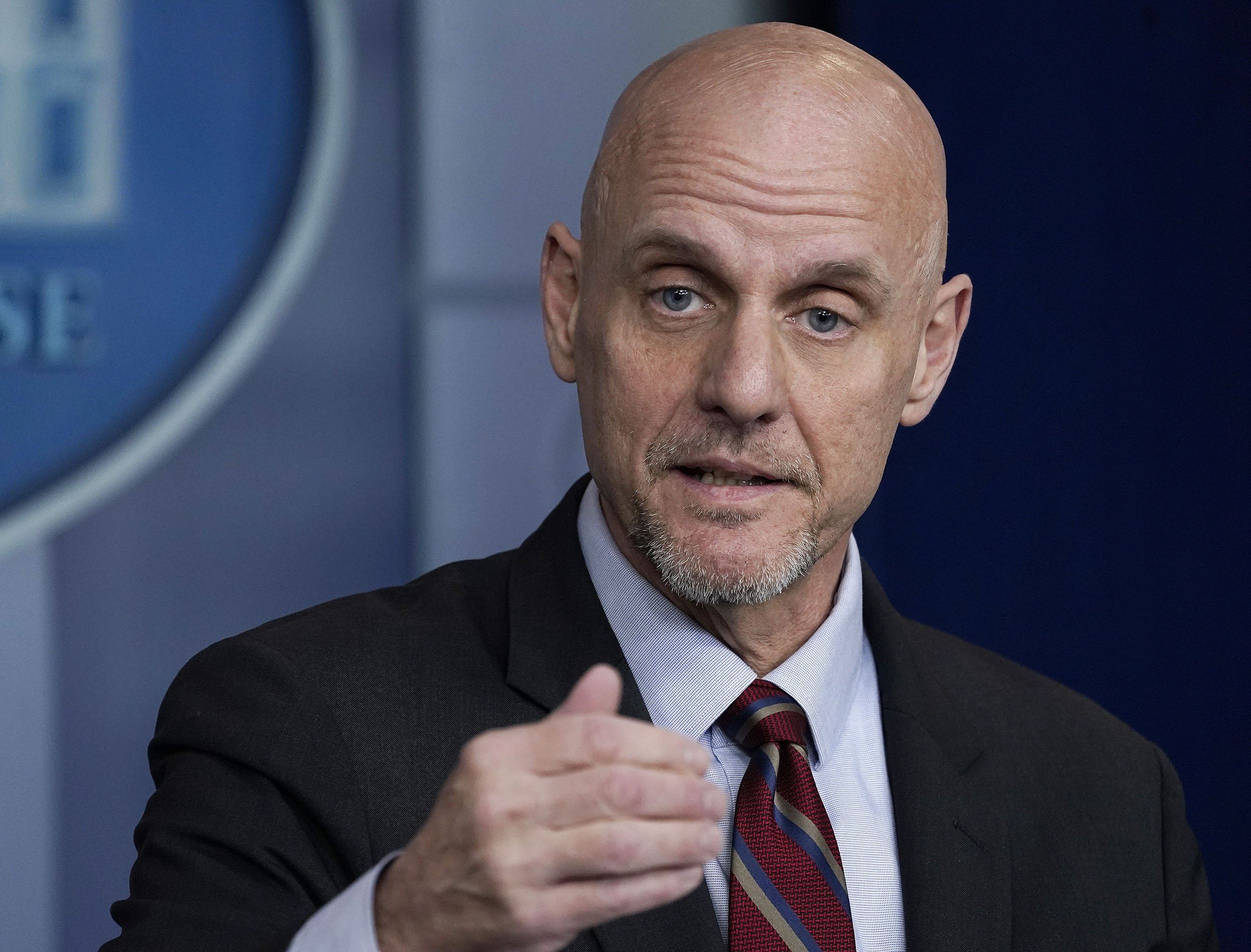 Stephen Hawn, director of the Food and Drug Administration, speaks during the coronavirus daily briefing at the White House in Washington D.C., on April 21.