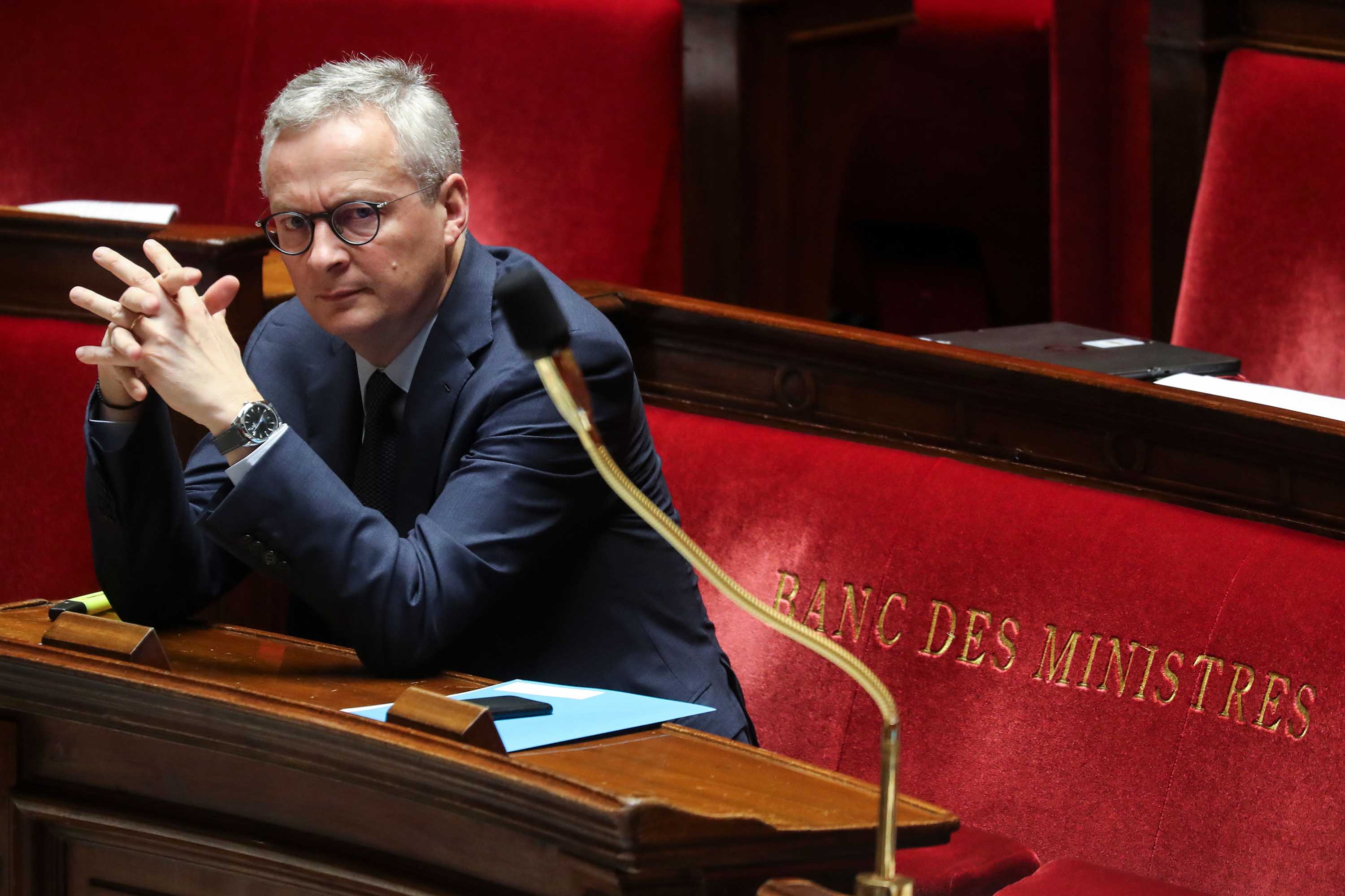 French finance minister Bruno Le Maire during a debate at the National Assembly in Paris on March 19.