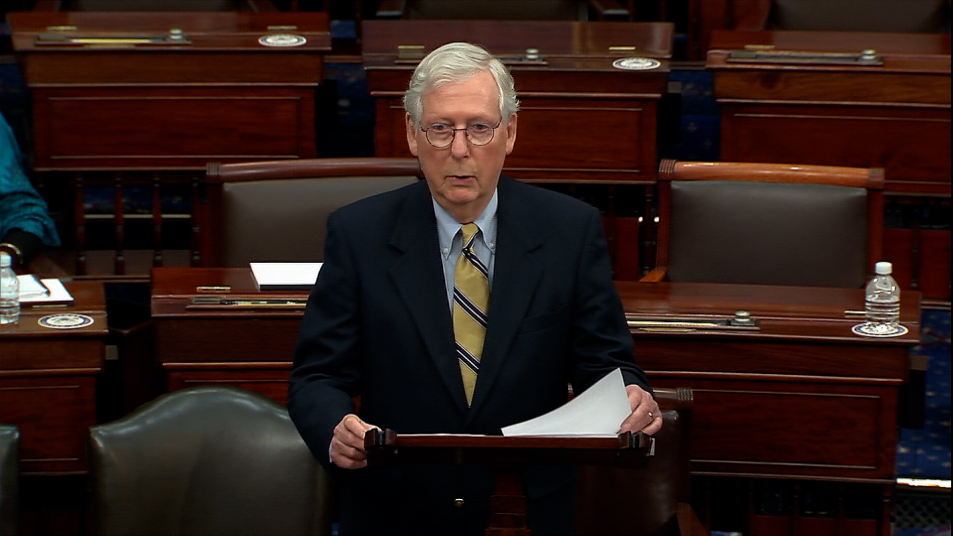 Senate Minority Leader Mitch McConnell.