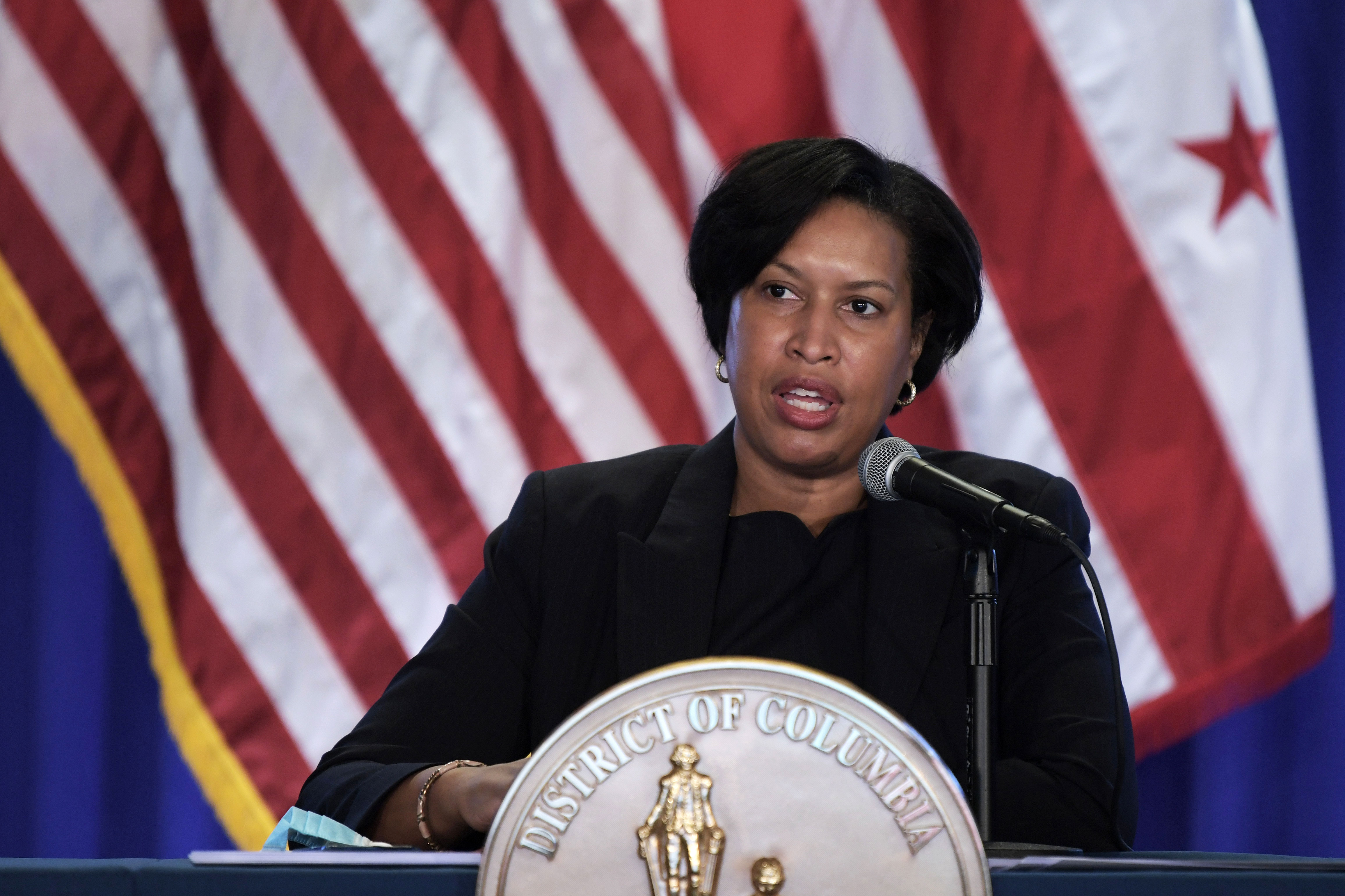 Muriel Bowser, mayor of Washington, DC, holds a press conference on January 11 in Washington, DC.