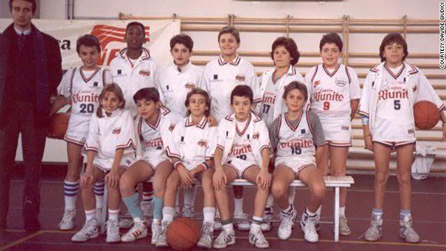 Bryant's 'Cantine Riunite' youth team in the early 1990's in Reggio Emilia, Italy. Bryant is in the top row, third from the left.