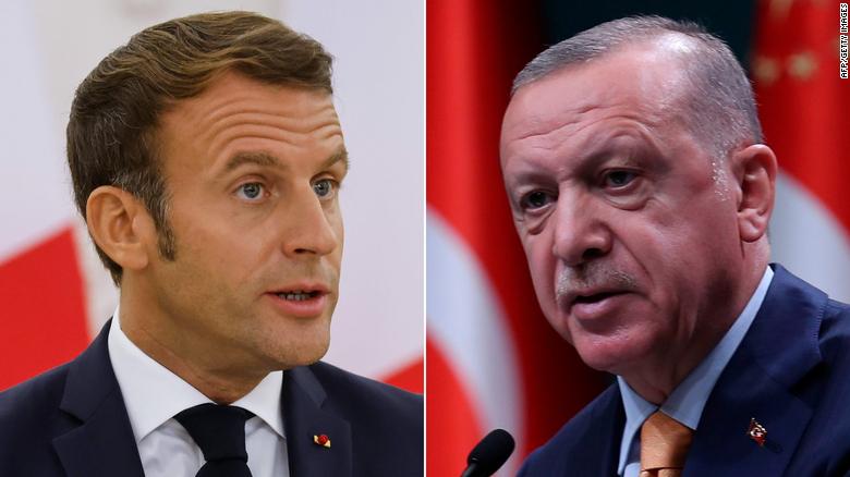 French President Emmanuel Macron and Turkish President Recep Tayyip Erdogan