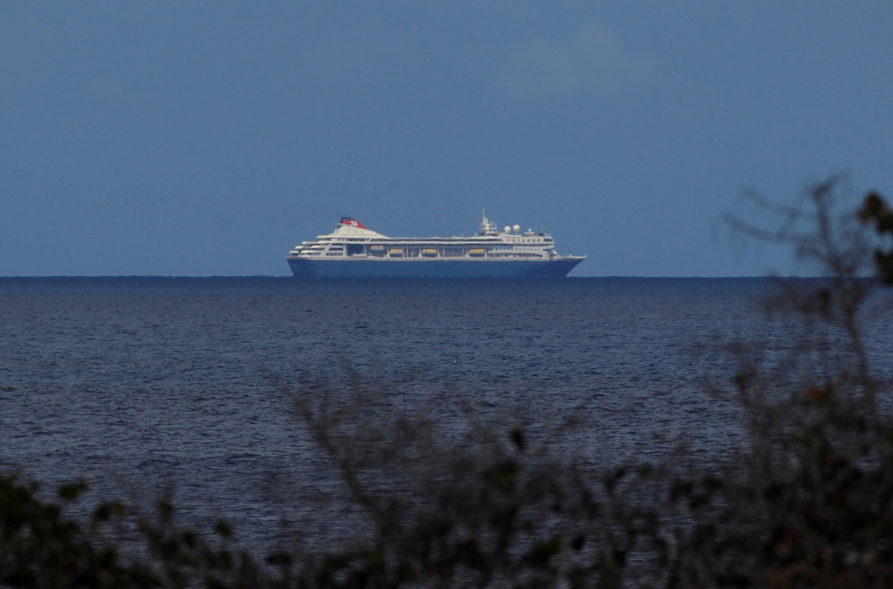 The British cruise ship MS Braemar is seen off the coast of Havana, Cuba, on March 17.