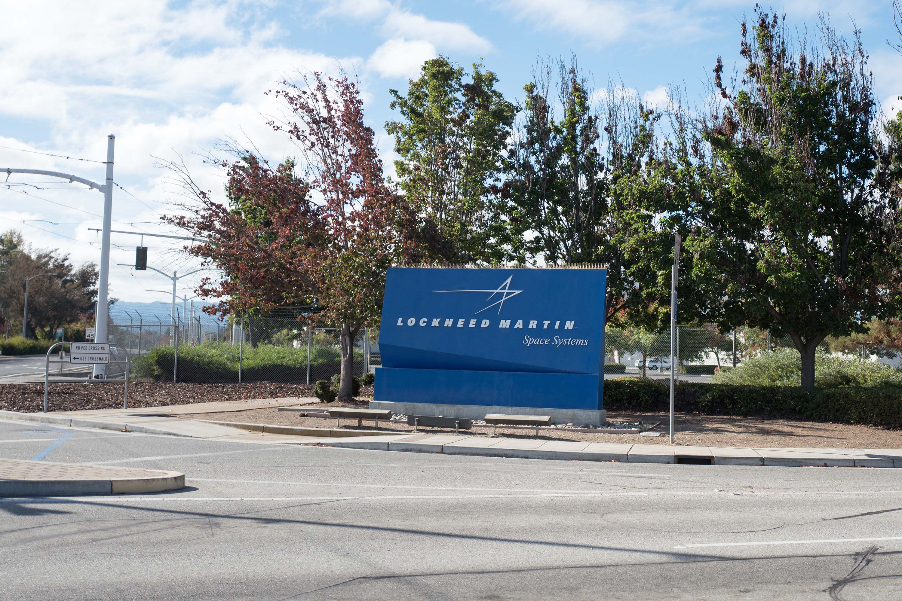 The entrance to regional headquarters of Lockheed Martin in Sunnyvale, California, pictured in October 2018.