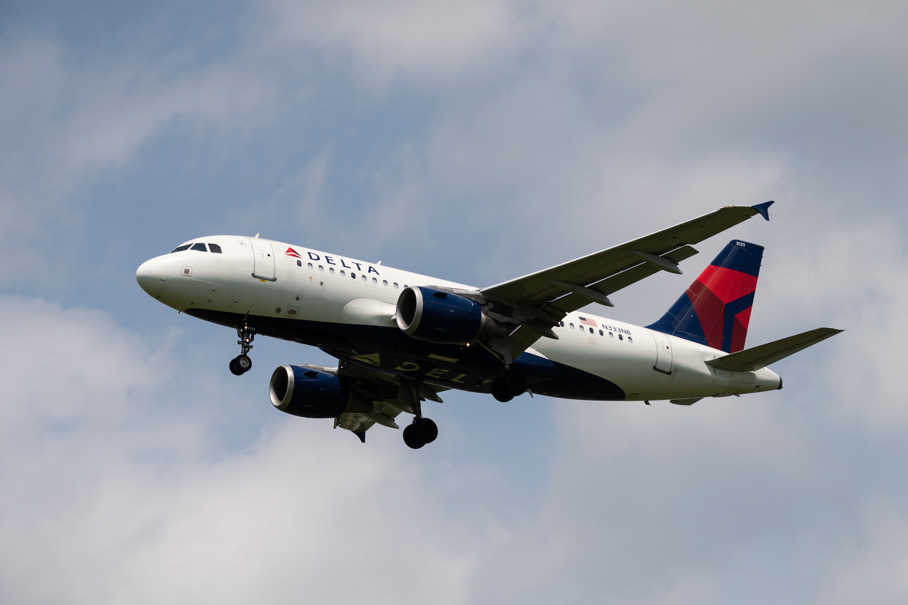 A Delta Airlines plane lands at Ronald Reagan Washington National Airport on June 5.