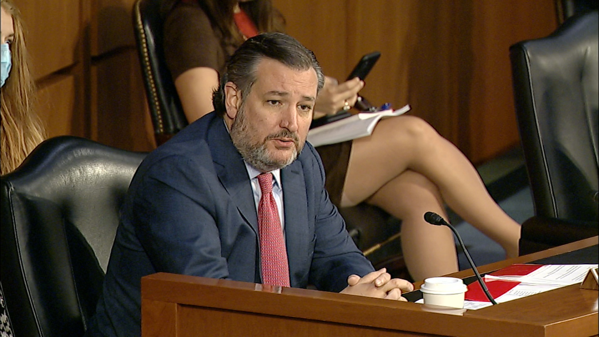 Texas Senator Ted Cruz speaks during a hearing on gun violence in Washington, DC, on March 23.