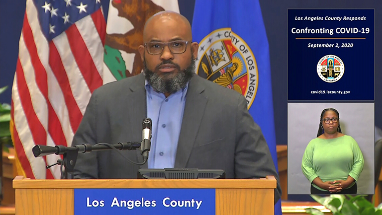 Los Angeles County Health Officer Muntu Davis