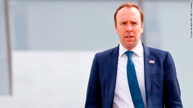 Britain's Health Secretary Matt Hancock is pictured in London on April 3.