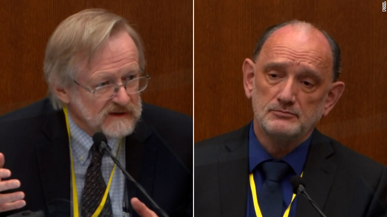 Dr. Martin Tobin, left, testifies on Thursday, April 15. Dr. David Fowler, right, testifies on April 14.