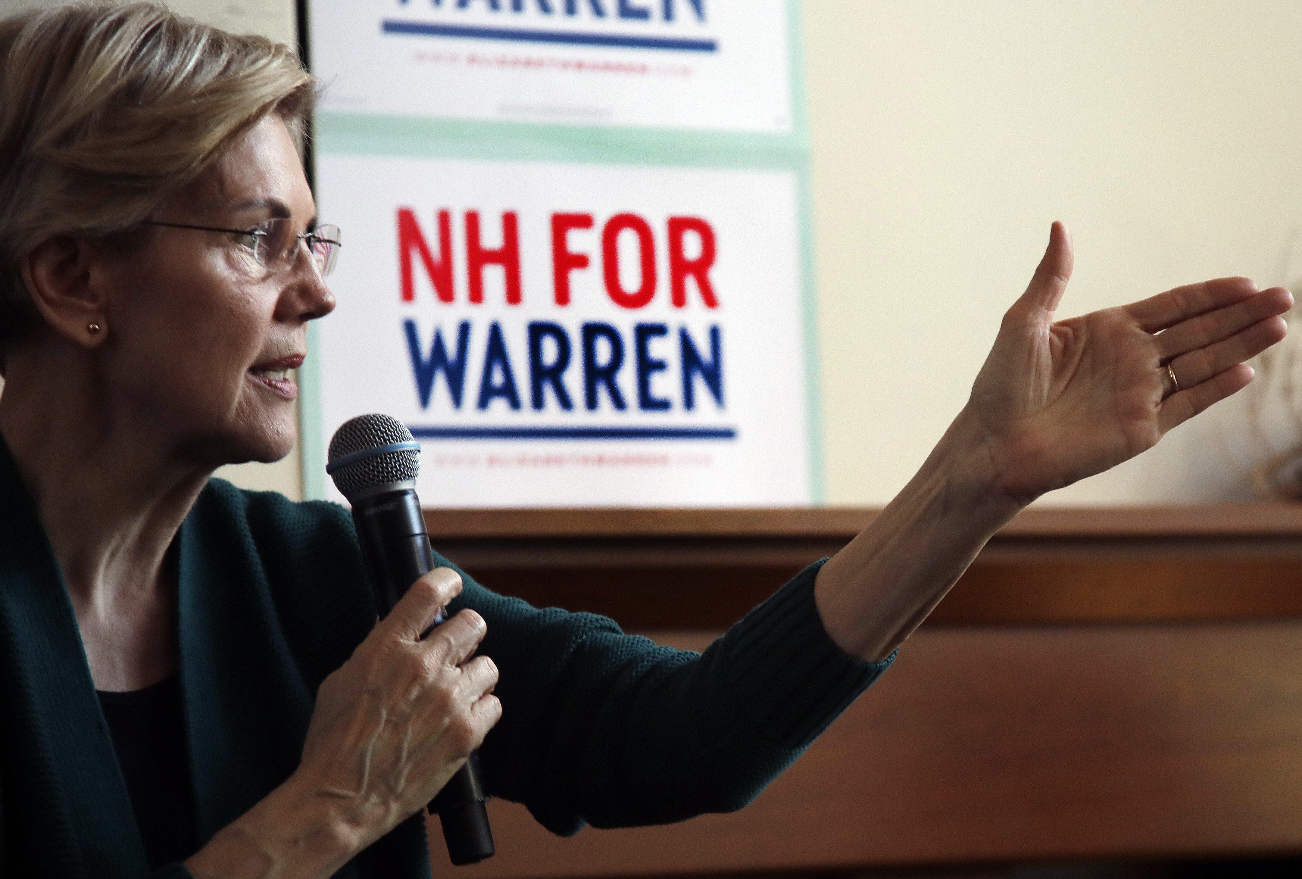 Democratic presidential candidate Sen. ElizabethWarren, D-Mass.