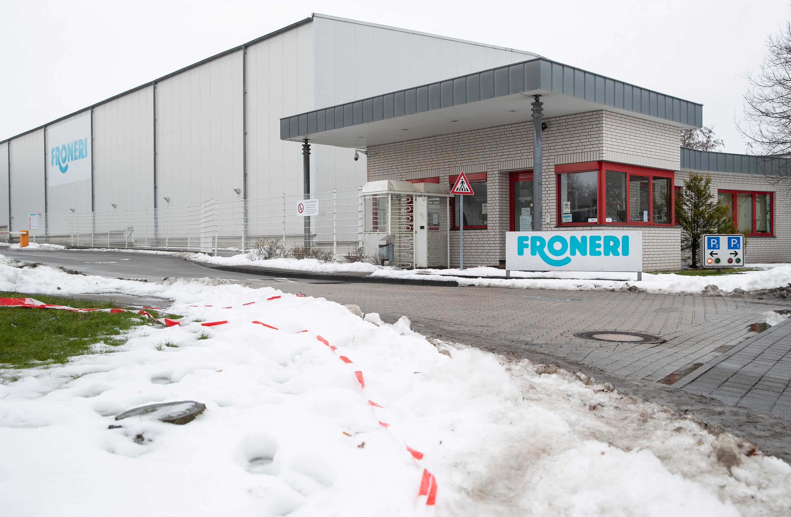 The Froneri factory is pictured on February 16 in Osnabrück, Germany.
