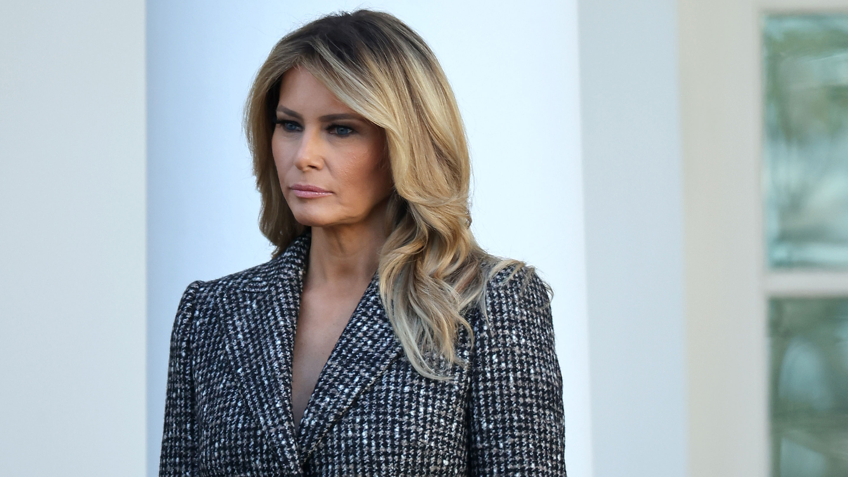 First lady Melania Trump attends an event at the White House on November 24, 2020.