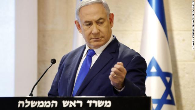 Prime Minister Benjamin Netanyahu delivers a statement to the media in Jerusalem on September 9. (Menahem Kahana/AFP/Getty Images